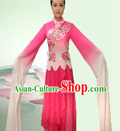 Long Water Sleeves Colour Change Dance Costumes for Women