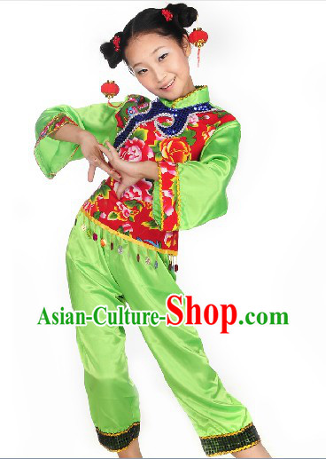 Han Ethnic Stage Performance Costumes for Kids