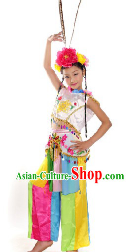 Stage Performance Qiao Hua Dan Dance Costumes for Female Children