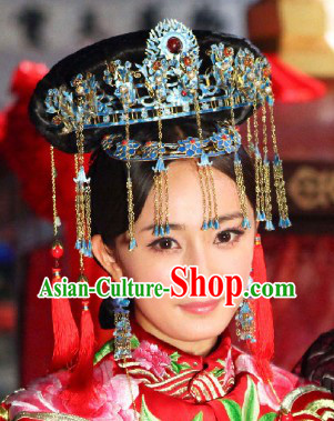 Traditional Chinese Imperial Wedding Hair Accessories and Wig for Women