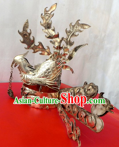 Traditional Chinese Miao Silver Phoenix Headwear