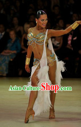 Custom-made Professional Latin Dancing Costumes for Women