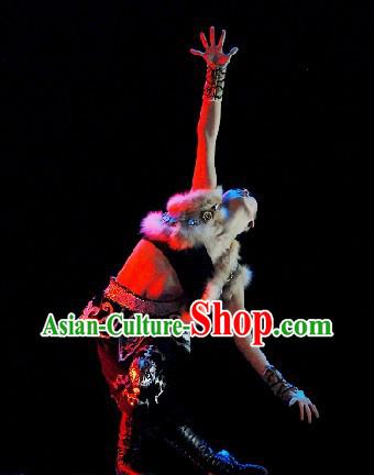 Chinese Ethnic Solo Dance Competition Costume for Women