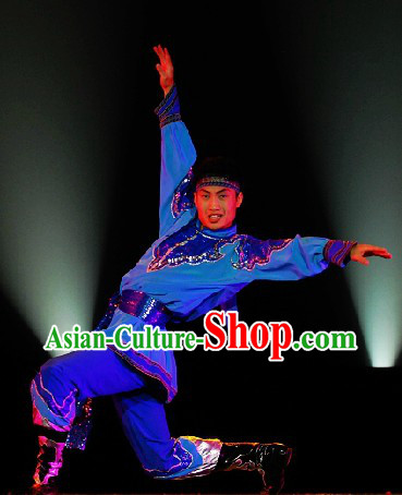 Professional Mongolian Dancing Costumes Competition Outfit for Men