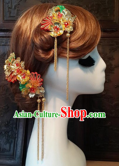 Traditional Chinese Handmade Mandarin Clothes Cheongsam Accessories Set
