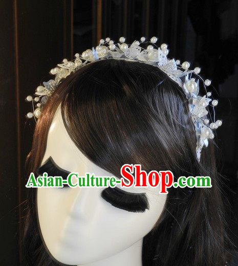 Traditional Chinese Handmade Wedding Customs Brides Barrette Garland