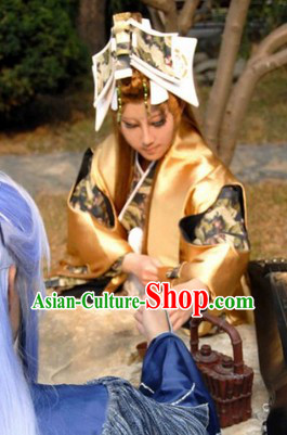 Ancient Fencer Chinese Cosplay  Clothing, Shoes & Accessories for Men