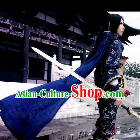 Ancient Chinese Fencer Costume Cosplay  Clothing, Shoes & Accessories for Men