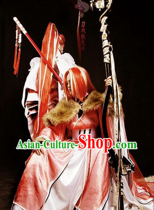 Asian Kung Fu King Cosplay Costumes Complete Set for Men