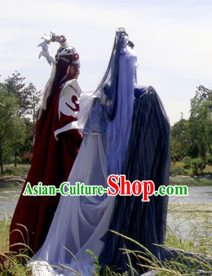 Asian Kung Fu Emperor China Cosplay Costume Complete Set