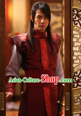 Ancient Korean Fighting General Costumes Complete Set for Men