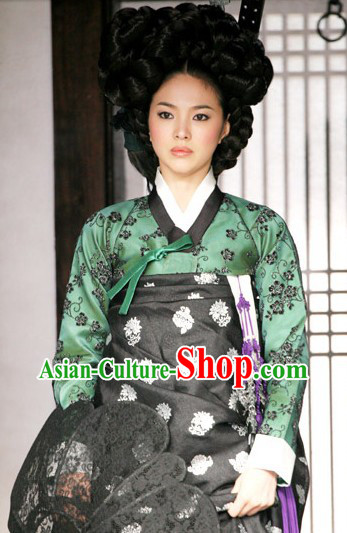 Song Hye Kyo Ancient Korean Lady Clothing Complete Set and Wig