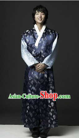 Lee Jun Ki Traditional Korean Hanbok Clothing Complete Set for Men