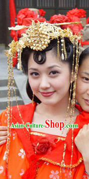 Ancient Asian Princess Wedding Hair Accessories Complete Set