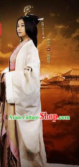 Han Dynasty Empress Hanfu Clothing and Hair Accessories Complete Set
