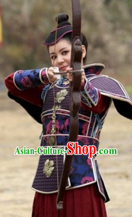 Ancient Chinese Archer Costumes and Headdress