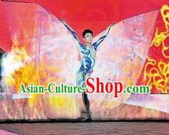 Traditional Chinese Acrobatics Dance Costumes for Men