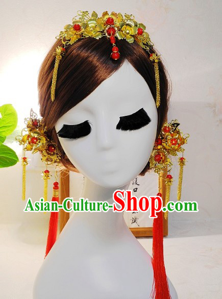 Handmade Traditional Chinese Bridal and Wedding Hair Accessories Combs Jewels