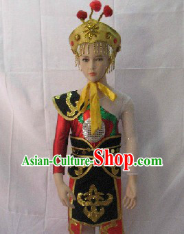 Traditional Chinese Drum Dancer Costumes for Kids