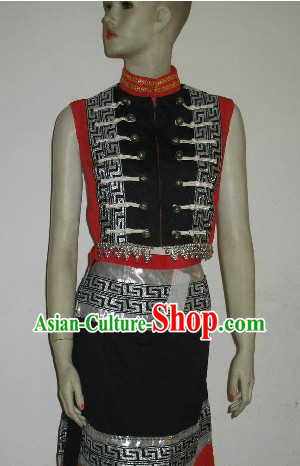 Traditional Chinese Ethnic Dance Costumes Complete Set