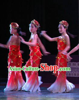 Traditional Chinese Fish Dance Costumes Complete Set
