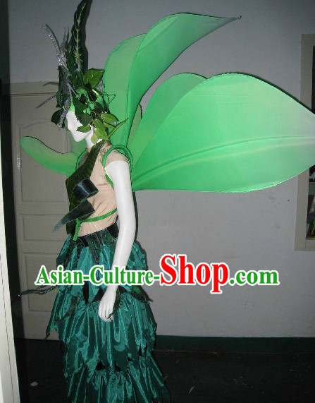 Forest Angel Model Costumes and Headdress Complete Set