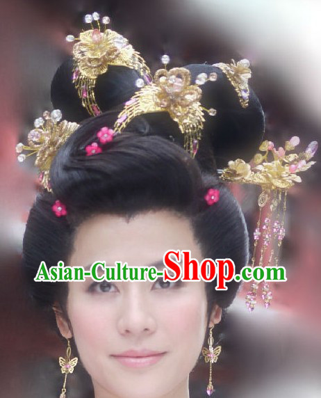 Traditional Chinese Princess Phoenix Accessories and Earrings Necklace Complete Set