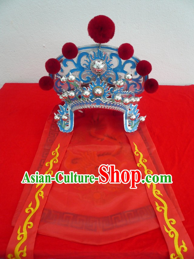 Traditional Chinese Opera Stage Performance Mulan Helmet