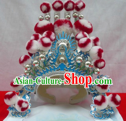 Traditional Chinese Opera Marshal Hat