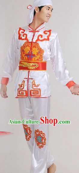 Traditional Chinese Dragon Dancing Costumes Complete Set for Men