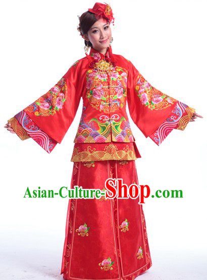 Supreme Chinese Wedding Clothes Complete Set for Brides