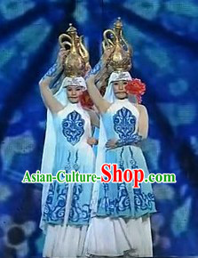 Chinese Ethnic Dance Costumes Complete Set for Women