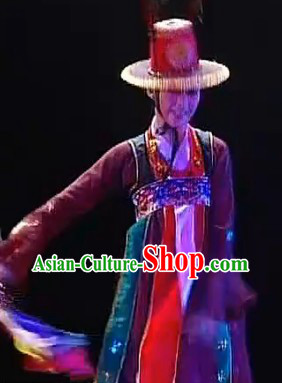 Korean Classical Silk Dance Costumes Complete Set for Women