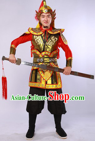 China General Costumes and Hat Complete Set for Men