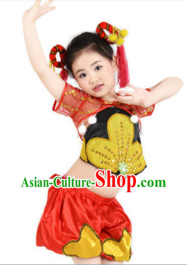 Asian Festival Celebration Dancing Costumes for Kids