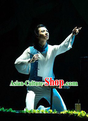 Professional Mandarin Instrument Player Outfit for Men