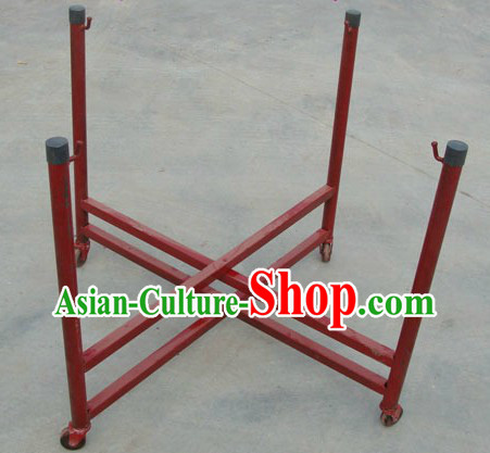 Traditional Handmade Wooden Drum Cart with Wheels (suitable for the drum diameter of 18