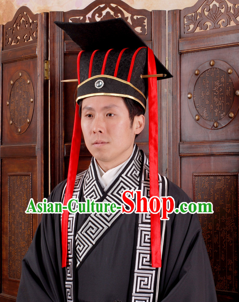 Chinese Emperor Clothing and Hat Complete Set for Men