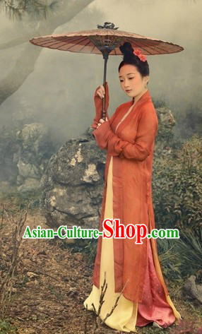 Ancient Song Dynasty Female Chinese Hanfu Clothing Complete Set for Women