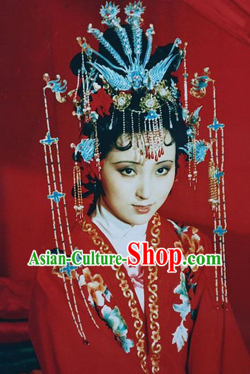 A Dream in Red Mansions Lin Daiyu Wedding Phoenix Hairpins Set