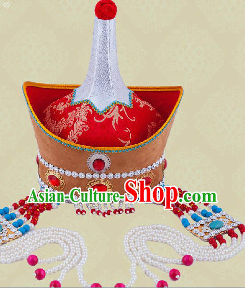 Handmade Traditional Chinese Mongolian Hat for Women