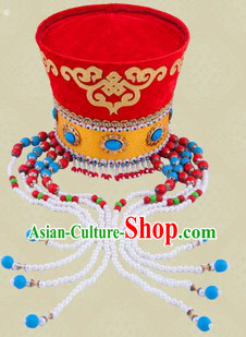 Ancient Chinese Mongolian Princess Hat for Girls