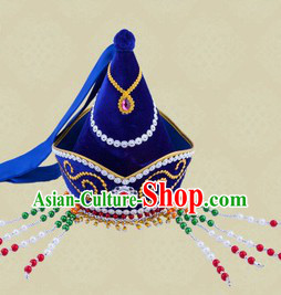 Traditional Chinese Stage Performance Ethnic Mongolian Hat
