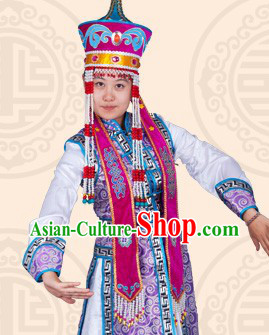Traditional Chinese Ethnic Mongolian Long Garment for Women