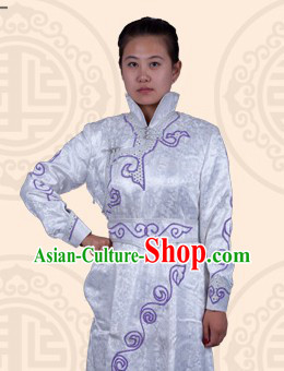 Traditional Chinese Mongolian Stage Performance Dance Costumes for Women