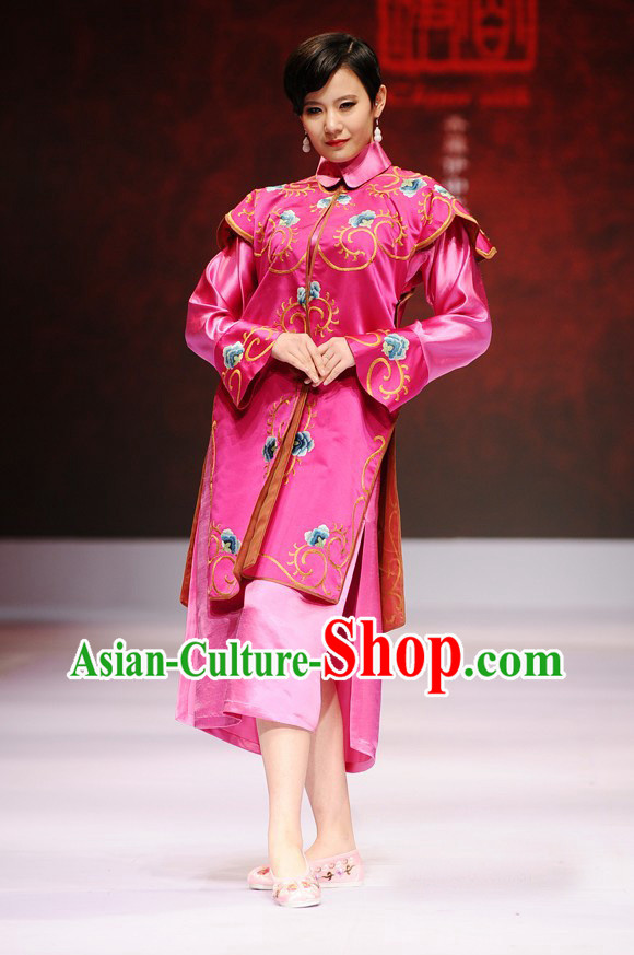 Pink Chinese Nobel Lady Costumes