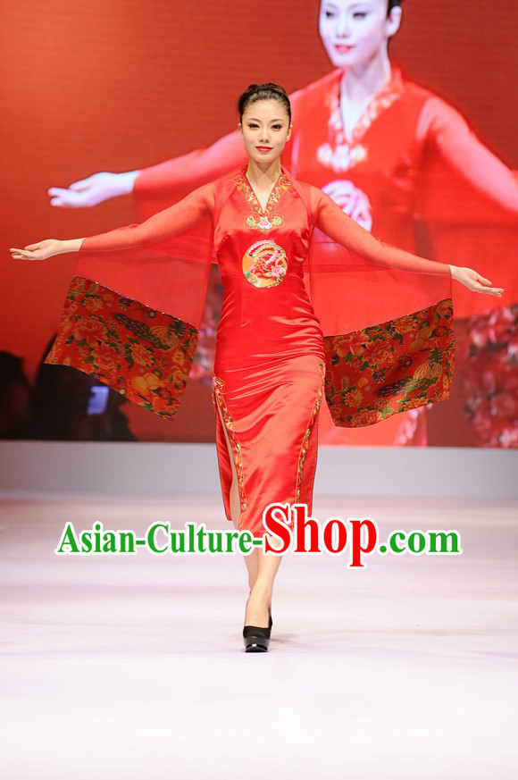 Chinese Red Qipao Wedding Dress