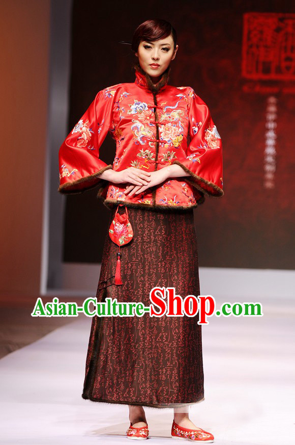Luxury Chinese Embroidery Wedding Suits