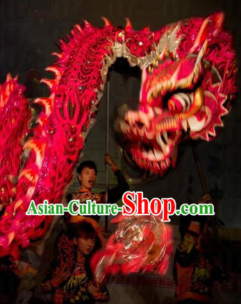 Wish You a Happy New Year Luminous Dragon Dancing Costume Complete Set