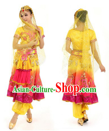 Indian Classical Dance Costumes and Headdress for Women